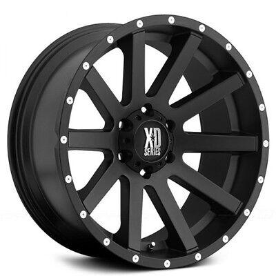 """New(4) Off Road 20x10"""" XD Wheels XD818 Heist Satin Black Rims"""