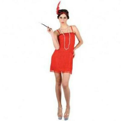 Red Flapper Showtime Girls Fancy Dress 20's - Girls Fancy Flapper Kostüm