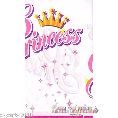 PRINCESS PLASTIC TABLE COVER ~ Birthday Party Supplies Decorations Pink Girly