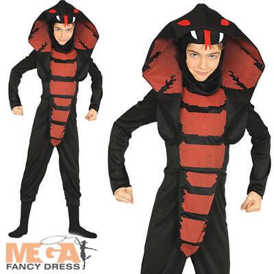 Cobra Ninja Kids Childrens Fancy Dress Samurai Assassin Boys Halloween - Ninja Cobra Kostüm