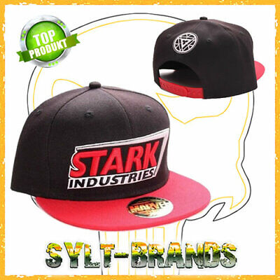 Tony Stark Caps Stark Industries Marvel Snapback Kappe - Marvel Hat