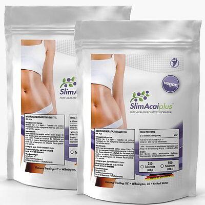 ACAI BERRY Beere 250-1000 Tabletten (Vegan) - Detox Diät Fettverbrennung Slim