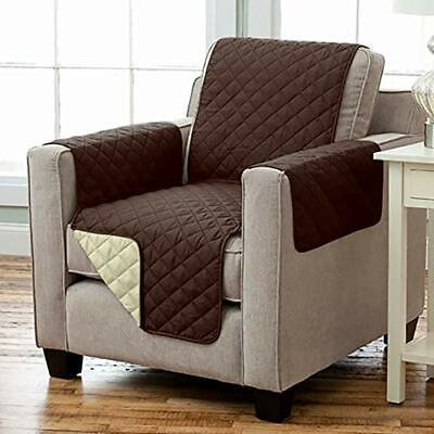 Wende Sesselschoner Sesselauflage RELAX mit Armlehnen und Taschen braun beige