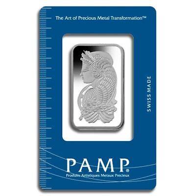 Platinum Pamp Suisse Fortuna 1 oz Bar | Sealed in Certicard
