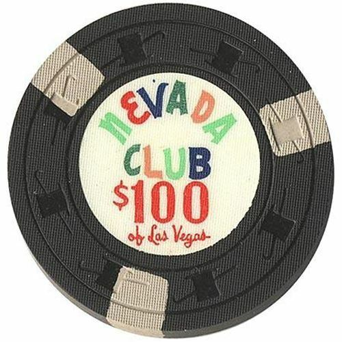 Nevada Club Casino Las Vegas NV $100 Chip 1959