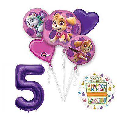 PAW PATROL SKYE & EVEREST 5th Birthday Party Balloons Suppli