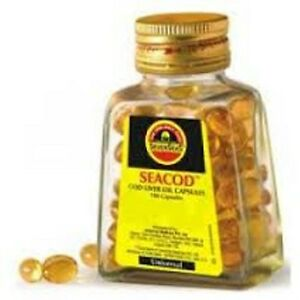 2x Seacod Cod Liver Fish Oil Capsules With Epa Dha Omega 3
