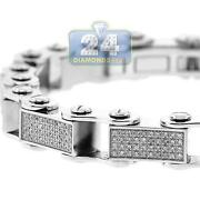 Mens Stainless Steel Diamond Bracelet