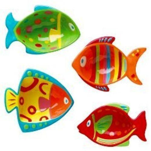 Fish shaped plates ebay for Fish shaped plates