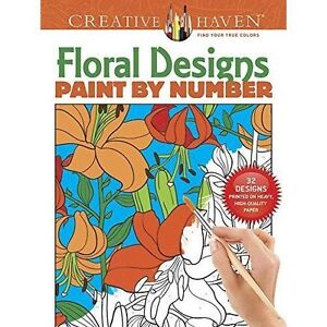Creative Haven Floral Design Paint by Number by Jessica Mazurkiewicz...