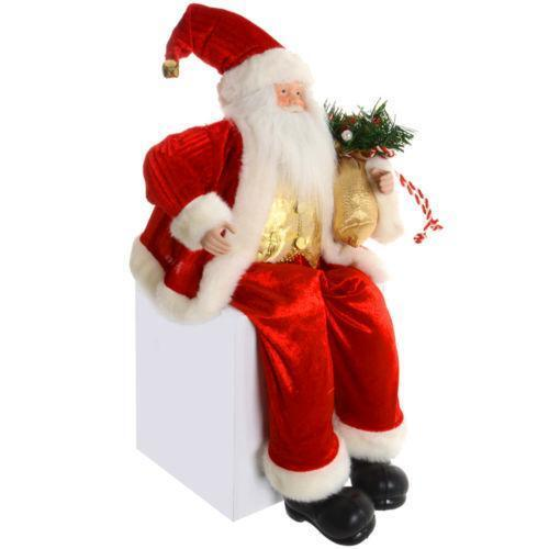 Santa Claus Decorations Uk: Sitting Santa: Other Christmas Decoration