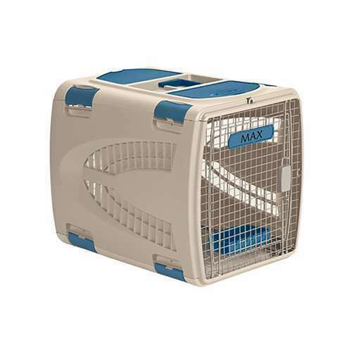 Suncast Animal Air or Car Travel Pet Carrier with Food & Water Tray (Open Box)