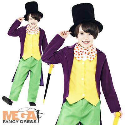 Willy Wonka World Book Day Boys Fancy Dress Roald Dahl Character Kids - Willy Wonka Characters Costumes