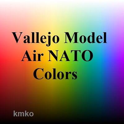Vallejo Model Air NATO Colors Set 5x17ml € 14,61/100ml