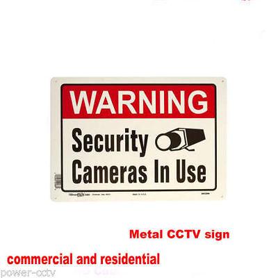 HDTVI Surveillance Accessories Sign Metal Indoor Outdoor Security Camera 5MP TVI