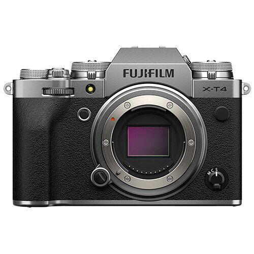 Fujifilm X-T4 Mirrorless 26.1MP 4K Fuji X T4 Digital Camera Body Silver