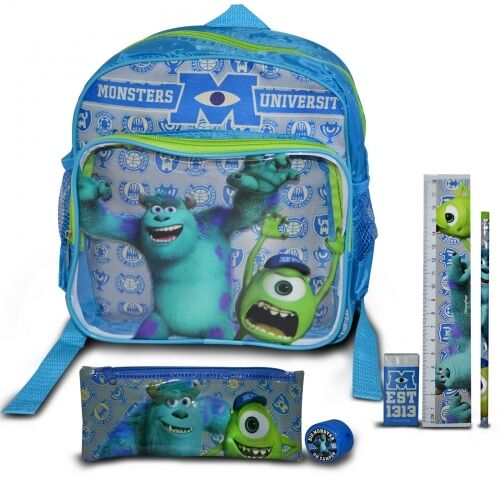 Disney Monsters University Backpack Set with Filled Stationery Brand New Gift