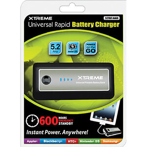 Xtreme Rapid 5200Mah Battery Charger for Apple & Android $29.99
