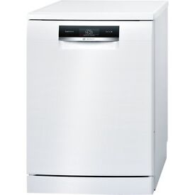 10 month old Bosch Serie | 8 SMS88TW02G white ActiveWater Dishwasher 60cm Freestanding