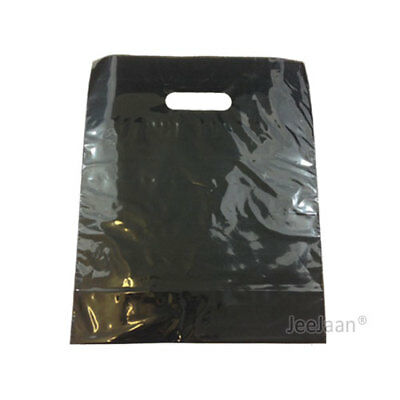 100 Black Plastic Carrier Bags 15