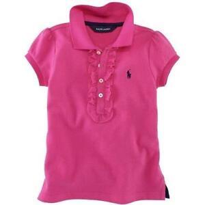 Polo ralph lauren girls ebay for Baby pink polo shirt