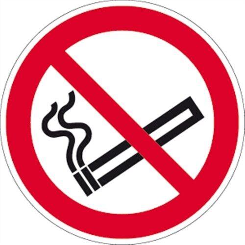 Aufkleber Rauchen verboten ISO 7010 Ø 40 cm