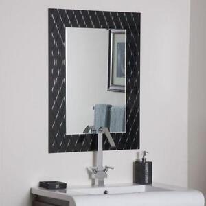 Bathroom Mirror Black bathroom mirror | ebay