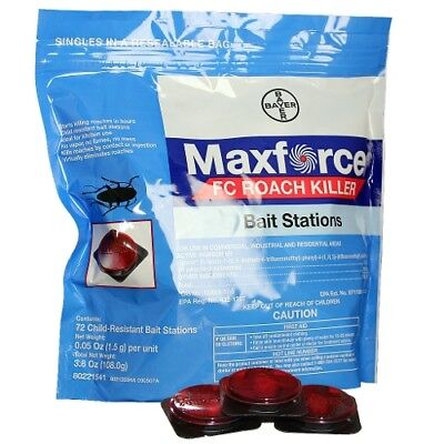 12 Maxforce FC Roach Bait Stations Bayer Roach Control Stations Roach Bait Stations