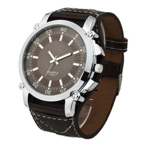 mens watches leather belt ebay