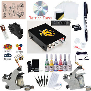 Tattoo Starter Kit 2 Gun Supply Set Equipment Dunhuang1