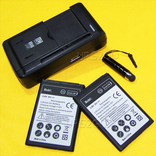 2x 3000mah Battery+wall Charger For Lg Optimus Dynamic Ii...