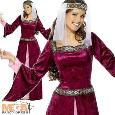 Maid Marion Ladies Medieval Robin Hood Fancy Dress Womens Marian Costume Outfit](Maid Marian Outfit)
