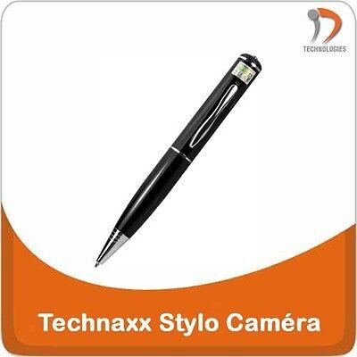 TECHNAXX Camera Video Stylo Pen Bic Espion Spy Spion Interview HD 8Go