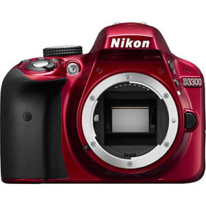 Nikon D3300 Red – body ONLY with full accessories