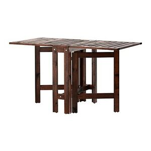 2 Patio Wood Folding Table