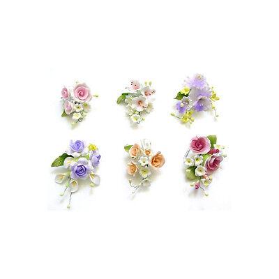 Gum Paste Roses Orchids Sugar Flower Cake Decorating Sprays Wholesale Case of 60