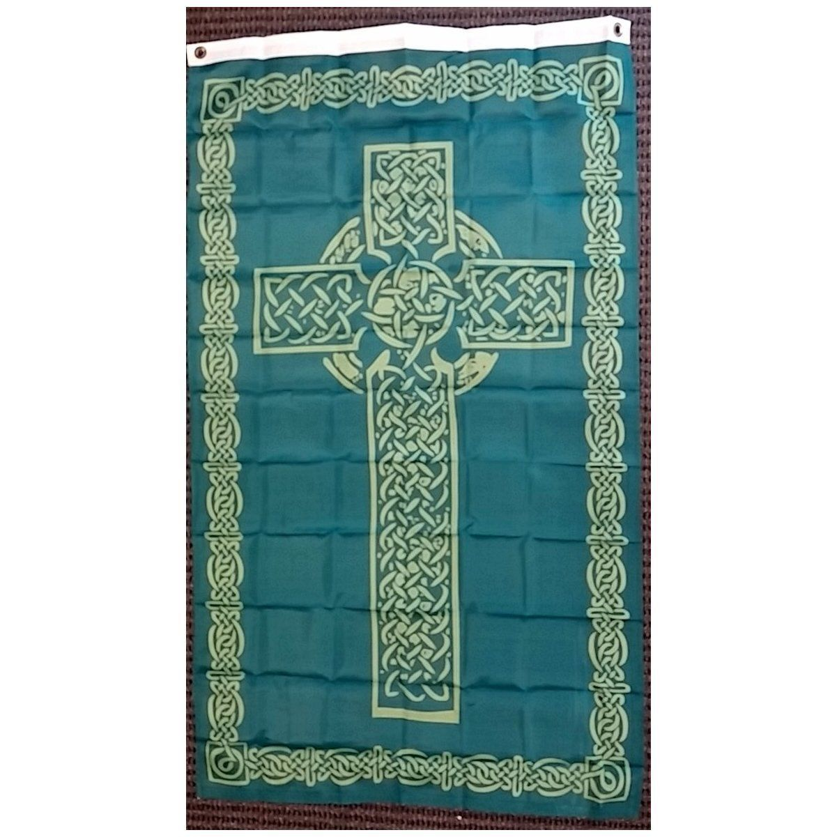 irish celtic cross polyester 3x5 foot flag