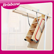Comfort Wooden Loft Ladder (up to 270cm high)  QLD Eagle Farm Brisbane North East Preview