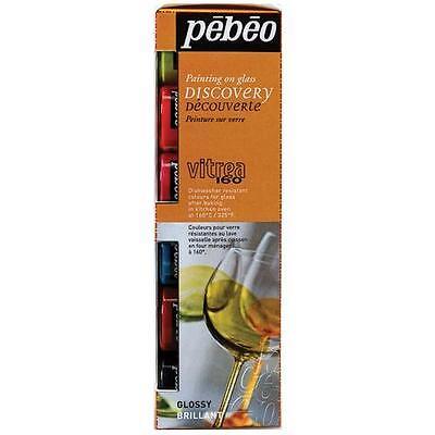 Pebeo Vitrea 160 Glänzend Glas Malen 6 X 20ml auf Wasserbasis Farbe Handwerk (Pebeo Vitrea 160 Farbe)