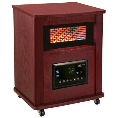 Comfort Zone CZ2032C Infrarød kvarts kabinetvarmer med fjernbetjening og