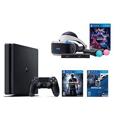PlayStation VR Launch Bundle PlayStation 4 Slim 500GB Console U Driveclub Video