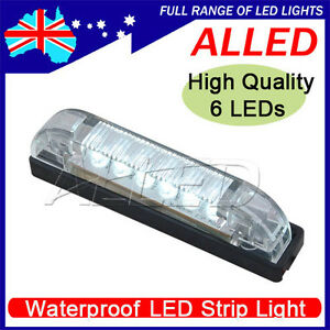 12V-6-LED-Strip-Light-Cool-White-Waterproof-Car-RV-Boat-Marine-Trailer-Truck-UTE