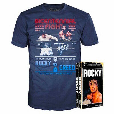 Funko VHS Packaged T-Shirt Rocky Balboa - Blue (Target Exclusive) S L XL - New