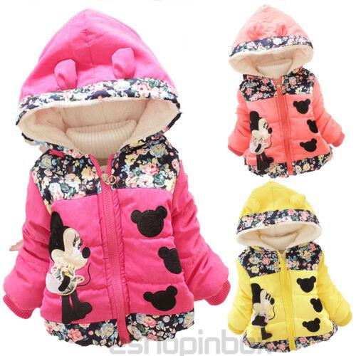 Kinder Mädchen Micky Maus Hooded Fleecejacke Mantel Winterjacke Schneejacke