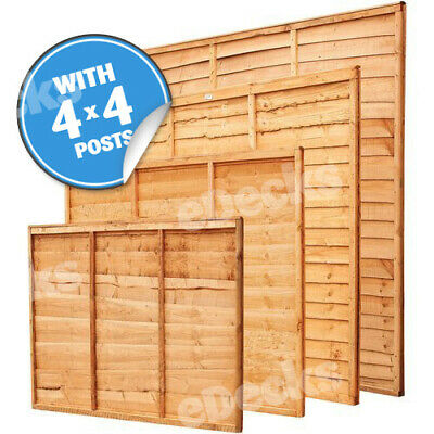 Overlap Fence Panel Kit With Fixings & 4