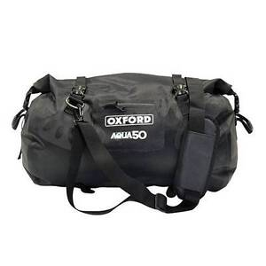 Oxford-Motorbike-Aqua-50-Rollbag-Tailpack-Waterproof-Motorcycle-Luggage-New-50L