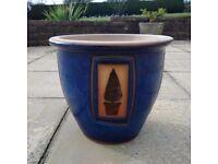 Plant Pot Tree style - Blue