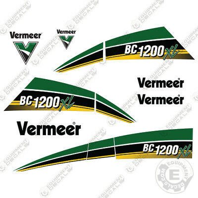 Vermeer Bc1200xl Tier 4i Gas Brush Chipper Decal Kit Bc 1200 Xl