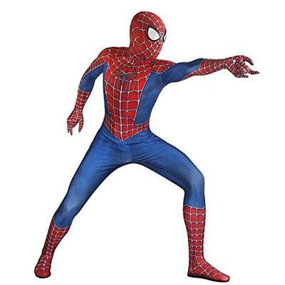 Seven Plus SpiderMan Lycra Spandex Zentai Halloween Cosplay Adult Costume ](Spiderman Halloween)