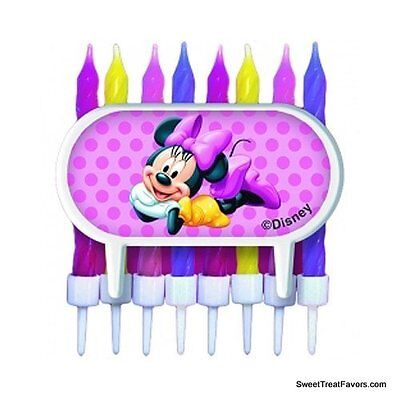 Minnie Mouse Cake Candle ClubHouse BIRTHDAY Party Supplies Cupcake Holder Favor - Minnie Birthday Cake